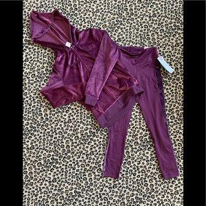 PINK Velour Legging and Full Zip Hoodie